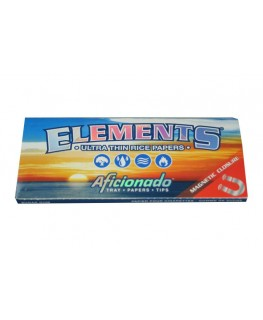 Elements Aficionado King Size Slim Blättchen/Papers + Filtertips