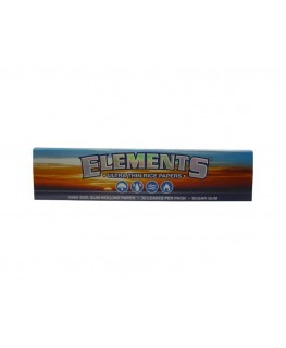 """Elements"" King Size Slim Blättchen/Papers aus weißem Papier"