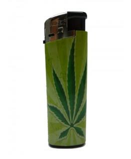 """""""Elektrisches Feuerzeug"""" Cannabis Green (Nachfüllbar)"""