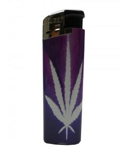 """""""Elektrisches Feuerzeug"""" Cannabis Purple (Nachfüllbar)"""