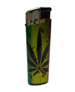 """""""Elektrisches Feuerzeug"""" Cannabis Reggae (Nachfüllbar)"""