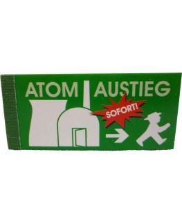 Anti Atom Filtertips/Jointfilter; Motiv: Atomaustieg sofort!