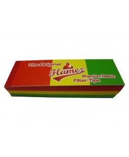 Flamez Rasta Joint/Zigaretten Filtertips in schmal, perforiert und in grün-gelb-rot