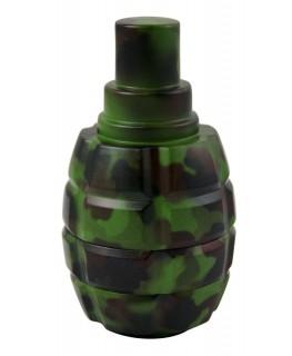 RUS Granaten Metallgrinder mit Sieb, Camouflage, 3-teilig, Magnet & Ø:63mm