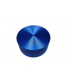 """Blauer 50mm """"Metallgrinder/Mühle"""" 2-teilig, mit Gleitring und Magnet."""