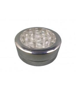 """""""Metallgrinder"""" ClearView Ø:55mm & 2-teilig in silber mit Sichtfenster"""