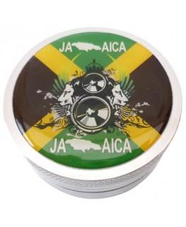2-tlg. Metallgrinder mit Jamaica Motiv, Gleitring, Farbe: silber & Ø:50mm