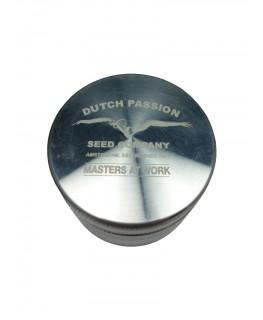 """Dutch Passion Amsterdam """"Metallgrinder mit Sieb"""" 4-teilig, Magnet & Ø:56mm"""