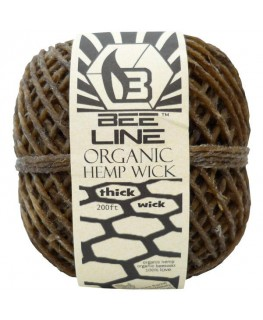 "Hanf ""Zündschnur"" 61m - Bee Line hemp wick thick (2mm) für Bong, Pfeife etc."