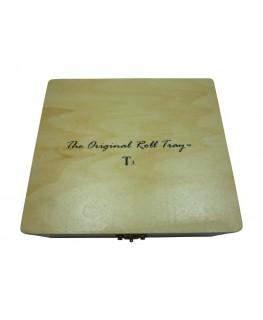 "Große Holzbox/Drehbox ""The Original Roll Tray"" T3 mit Drehhilfe & Paperspender"
