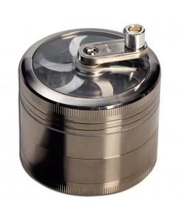 "Titan ""Grinder/Mühle"" mit Sieb, Kurbel, Magnet, Ø:63mm & 4-teilig"