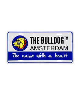 "Originales Metallschild ""The Bulldog Amsterdam"" Coffeeshop. Maße: 30 x 15cm"