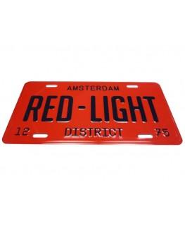 "Metallschild Amsterdam ""Red-Light"" District 1275. Maße: 30 x 15cm"