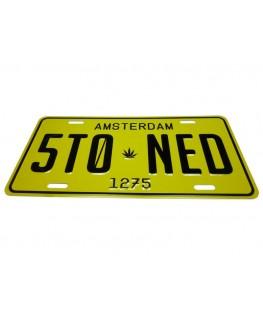 "Metallschild Amsterdam ""Stoned"" 1275. Maße: 30 x 15cm"