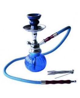 """25cm """"Shisha/Wasserpfeife"""" mit einem Schlauch, Kürbisform & Farbe: Blau"""