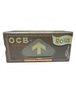 """OCB Virgin Rolls Slim """"Blättchen/Papers"""" aus ungebelichtem Papier & 4m lang"""