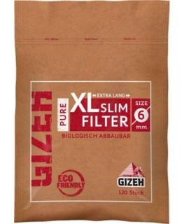 Zigarettenfilter/Eindrehfilter aus Papier von GIZEH als pure XL Slim (6 x 19mm)