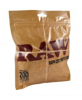 Zigarettenfilter/Eindrehfilter von RAW Regular 8mm (200 Stück)