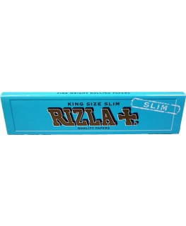 """RIZLA"" Blue King Size Slim ""Blättchen/Papers"" (Made in Belgien)"