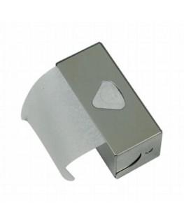 """Mittlere Rolls """"Blättchen Metallbox"""" für slim Rolls in klassisch silber"""