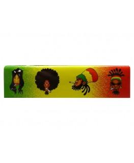 "SNAIL ""Rasta Reggae Family"" Papers/Blättchen als King Size Slim + Filtertips"