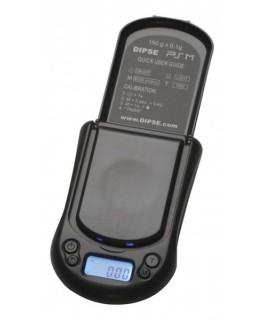 Digitalwaage PS-Mini 0,1g / 150g in schwarz (Deckel offen)