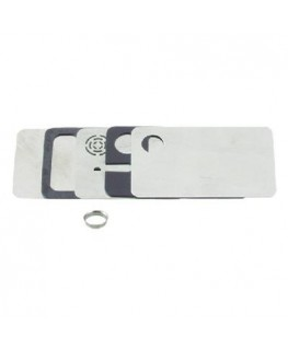 Metallpfeife als Scheckkarten. Maße: 85x50x3mm