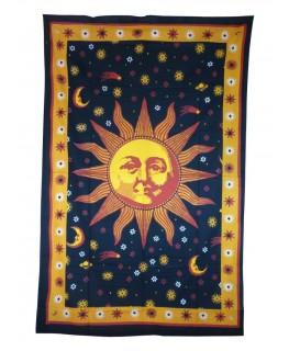 """""""Wandtuch"""" mit Sonne, Mond & Sterne aus Baumwolle (Maße: 2100x1400mm)"""