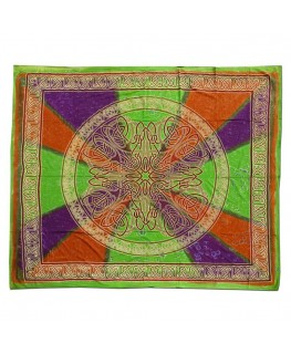 """Buntes """"Wandtuch"""" mit Celtic Circle Aufdruck (Maße: 2,10x2,4m)"""