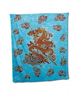 """Blaues """"Wandtuch/Strand-Decke"""" mit Drachen Aufdruck (Maße: 2,10x2,4m)"""