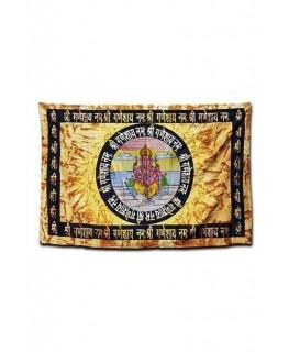 "Batik ""Wandtuch/Tagesdecke"" mit Lord Ganesha Aufdruck (Maße: 1,40x2,10m)"