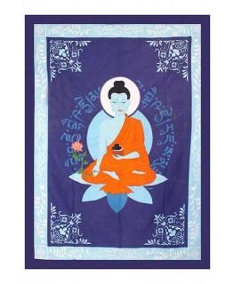 """""""Wandtuch/Tagesdecke"""" mit Medecine Buddha Aufdruck (Maße: 1,93x1,32m)"""