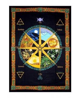 """""""Wandtuch/Tagesdecke"""" mit Pagan Kalender Aufdruck (Maße: 1,93x1,32m)"""