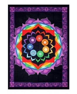 """""""Wandtuch/Decke"""" mit Rainbow Chakra Design (Maße: 1,93x1,32m)"""