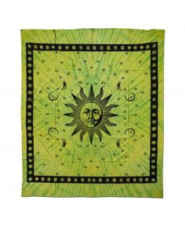 """Batik """"Wandtuch/Tagesdecke"""" mit Sun/Sonnen Aufdruck (Maße: 2,10x2,40m)"""