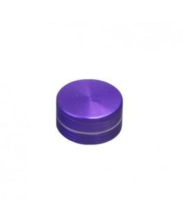 Metallgrinder in lila/Purple, 2-teilig, Gleitring und mit Magnet. Ø:40mm