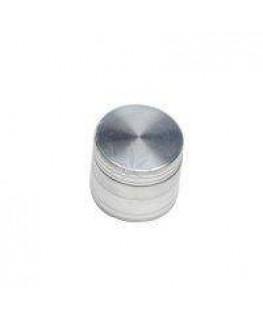 """""""Metallgrinder/Mühle/Cruncher"""" mit Sieb (Polinator) in Silber, Ø:40mm & 4-teilig"""