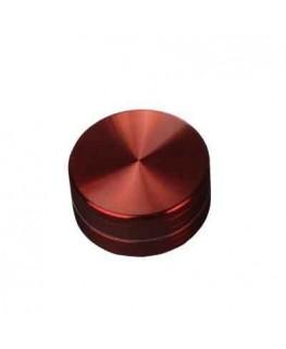 Metallgrinder in Rot, 2-teilig, Gleitring und mit Magnet. Ø:50mm