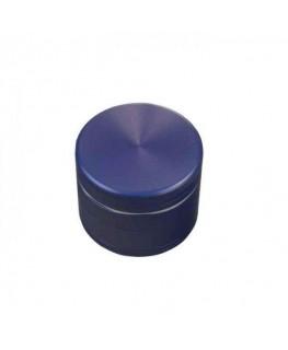 """Metallgrinder mit Sieb"" 4-teilig, Farbe: blau, Magnet, Gleitring & Ø:50mm"