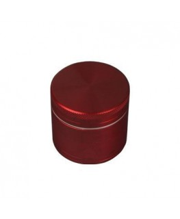 """Metallgrinder mit Sieb"" 4-teilig, Farbe: rot, Magnet, Gleitring & Ø:50mm"