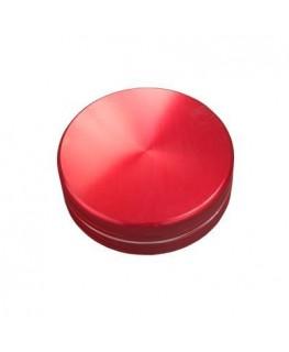 Metallgrinder in Rot, 2-teilig, Gleitring und mit Magnet. Ø:63mm