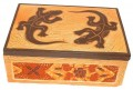 Schatulle / Box 20x15x7cm Gekko Motiv