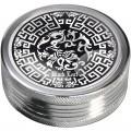 "Black Leaf ""Metallgrinder"" Celtic in Silber, Ø:50mm & 2-teilig (Schrägansicht)"