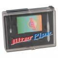 Metallpfeife Jilter schwarz L:85mm + Zubehör und Box geschlossen