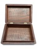 Große Amsterdam Holzbox in den Maßen: 18x13x5,7cm (Offen)