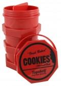 Cookies Box - L in rot & Geruchsdicht. Durchmesser: 91mm. (Offen)
