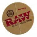 "Runde RAW ""Click-Clack/Klick-Klack"" Metalldose in braun"