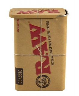 Braune RAW Slide Box aus Metall. (HxBxT): 9,4x6,1x2,8cm