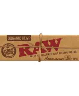 RAW Organic Hemp Connoisseur 1 1/4 Size Blättchen/Papers