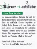 actiTube Verbraucherhinweis auf Deutsch